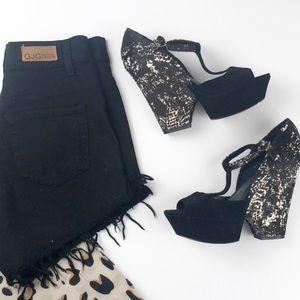Rachel Zoe  Frankie T Strap Calf Hair heels